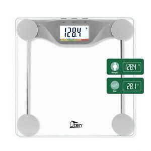 180kg-396lb-Bathroom-Geometric-Digital-Body-Fat-Weight-Scale-Safty-Glass-Fitness