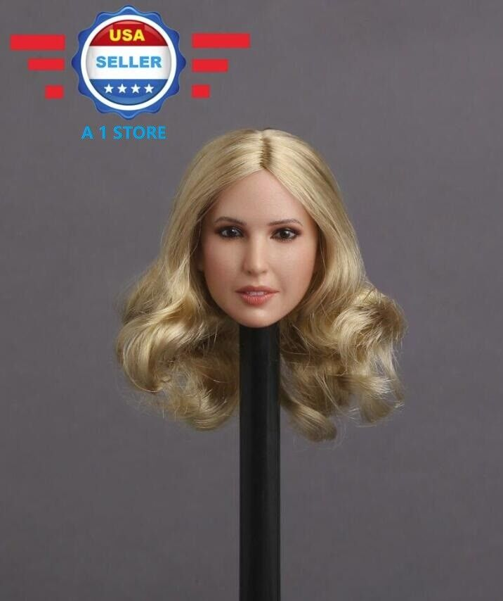 1 6 Female Head Sculpt Blonde Hair C For 12  Figure Doll PHICEN Hot Toys