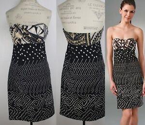 DVF-Diane-Von-Furstenberg-Dress-Strapless-Stitched-Elili-Size-8