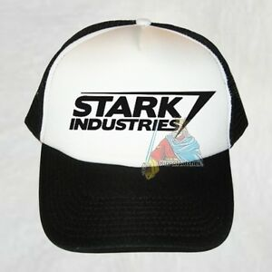 Stark Industries Logo Black Trucker Hat Marvel Comics Iron Man Tony ... 2e5ca0ba63a