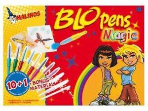 Malinos-BloPens-Magic-10-1-inkl-Schablonen-und-Papier-Pustestifte-Blo-Pens-NEU