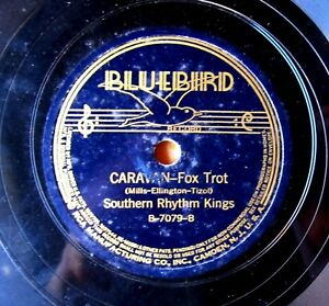 PREWAR-JAZZ-78-SOUTHERN-RHYTHM-KINGS-Caravan-BLUEBIRD-7079-staff-label-1937