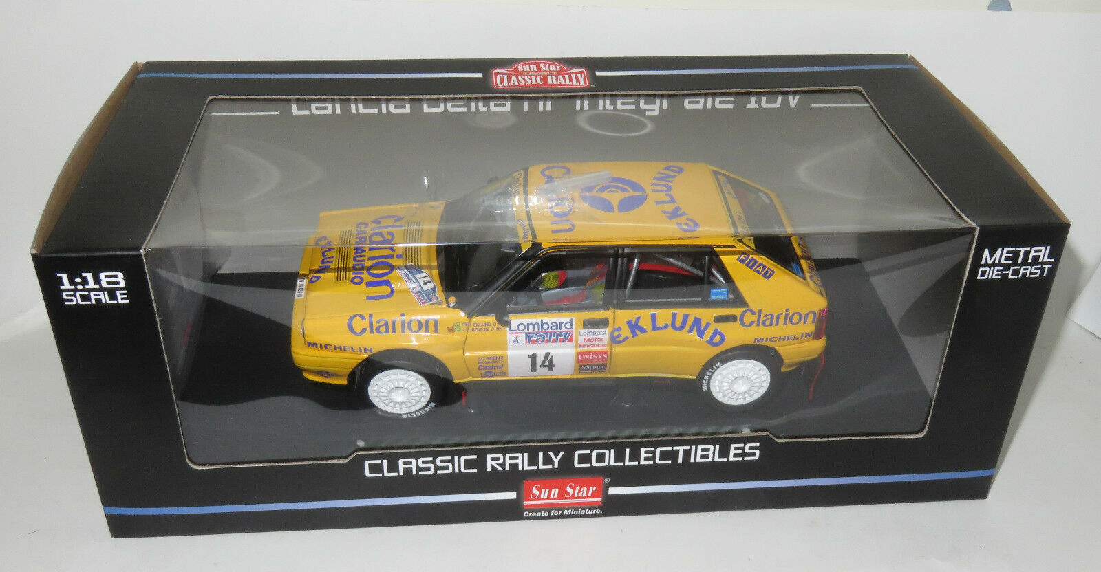 1 18 LANCIA DELTA HF INTEGRALE 16V CAMEL Lombard RAC Rally 1990 P. Eklund