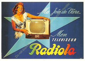 CP Poster Advertising TV Radiola Edit Nugeron J118