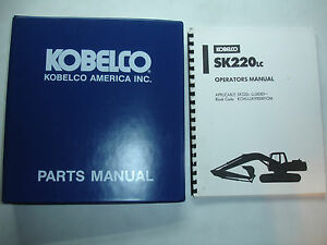 kobelco excavator operators parts manual sk220lc factory shop rh ebay co uk kobelco excavator operators manual kobelco excavator operators manual