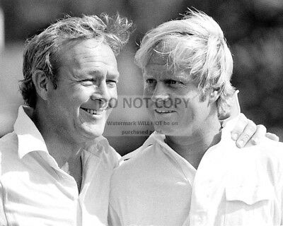 ARNOLD PALMER AND JACK NICKLAUS IN APRIL, 1973 - 8X10 SPORTS PHOTO