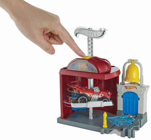 Hot Wheels City Downtown Fire Station Spinout Playset Kids Toys