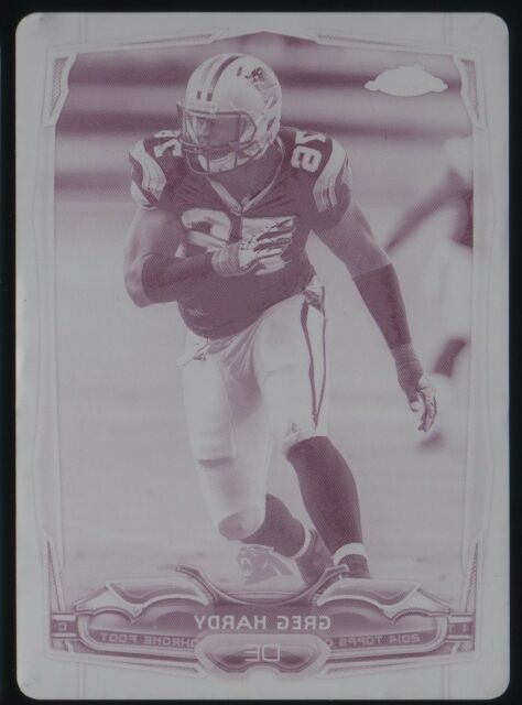 2014 Greg Hardy Topps Chrome #24 Magenta Printing Plate 1/1 Panthers