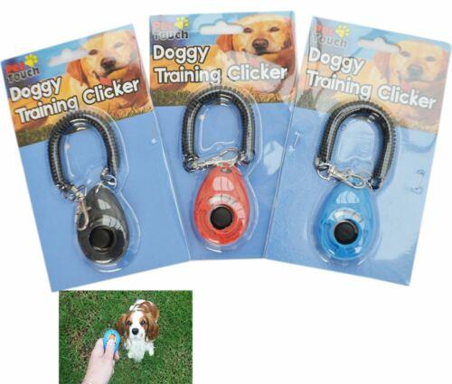 Mascota Perro Cachorro Formación Entrenador ayuda Clicker haga clic con Guía De Correa Para La Muñeca