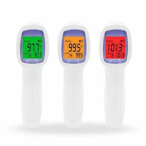 Termómetro de infrarrojos pistola de temperatura IR de mano frente sin contacto digital