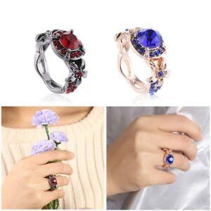 Women-saphir-rose-or-rempli-rubis-rouge-bague-fiancailles-mariage-bijoux-cadeaux