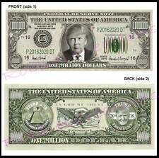 8 Lot-DONALD TRUMP For PRESIDENT 2016 U.S. PAPER Campaign FAKE MONEY ART Dollar