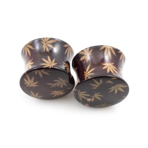 Ear Plugs with Pot leaf Design