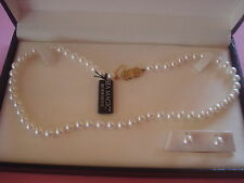 MIKIMOTO SEA MAGIC PEARL NECKLACE AND EARRING SET 14KT NEW