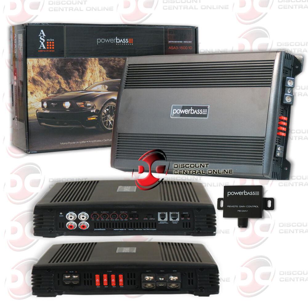 Powerbass Asa3 15001d 2yr Wrnty 3000w Mono Block Class D Car Audio Ampkit4 4 Gauge Contaq Amplifier Wiring Kit Lanzar Installation Parts Stock Photo