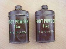 WWII  1940's Era Original Tin of  FOOT POWDER