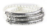 4031428 Serenity Prayer Stretch Bracelet Beaded Stack 12 Step Aa Al Anon Prayer on sale