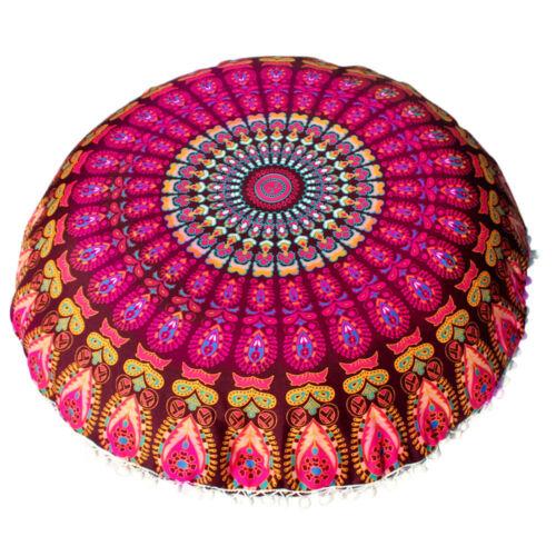 Mandala Floor Pillows Indian Tapestry Bohemian Throw Meditation Cushion Cover UK