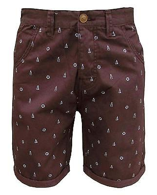 Soul Star Men's Molvin Shorts Burgundy