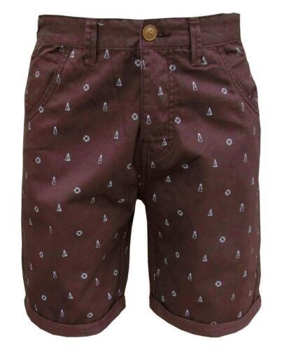Soul Star Men/'s Molvin Shorts Burgundy