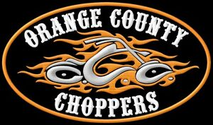 Magasiner Pour Pas Cher Orange County Flames Xl Brodé Patche Thermocollant Iron-on Patch