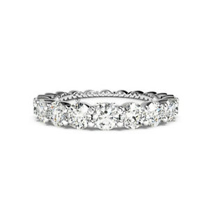 1-80-Ct-Real-Diamond-Wedding-Eternity-Band-Size-7-14K-Solid-White-Gold-Size-7-6