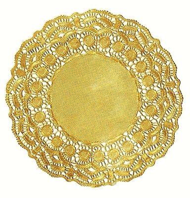 "9/""9.5/"" Gorgeous GOLD FOIL Paper Lace DoiliesDoily Invitation Gold Doily"