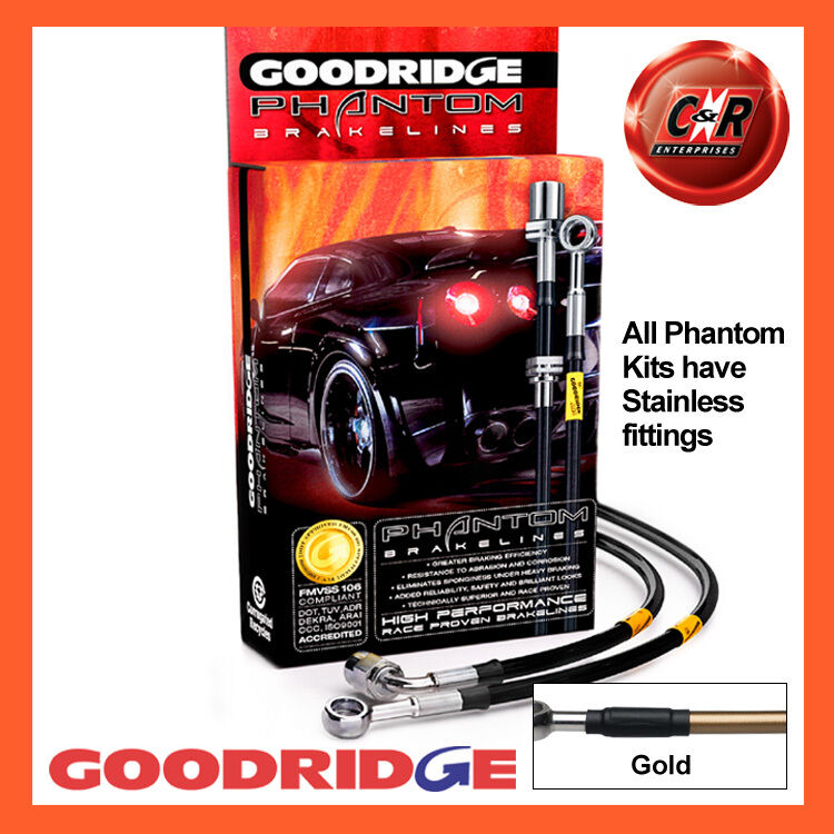 MERCEDES A45 AMG 13 On GOODRIDGE GOODRIDGE GOODRIDGE inoxidable oro mangueras de freno sme0455-4c-gd d8afdb