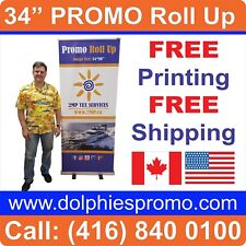 Trade Show 3480 Retractable Banner Stands Pop Roll Up Display Free Printing