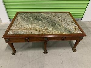 Antique Marble Coffee Table Stunning And Rare Ebay