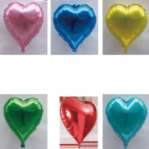 1x 10 Zoll Herzform Hochzeit Mini Folienballons Party Dekor Helium SpielzeugFBB