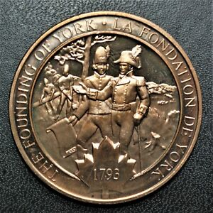 1793 Founding of York: 1971 History of Canada Proof Bronze Medal