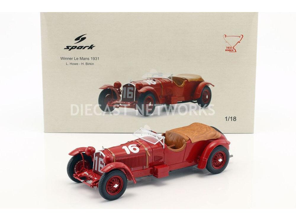 Spark Alfa Romeo 8C Winner Le Mans 1931 Birkin Howe escala  18  Nueva Versión