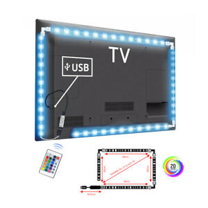 LED-Strip-light-Tape-RGB-5050-DC5V-USB-Cable-LED-Strip-1M-2M-3M-DIY-HDTV-TV-Dec