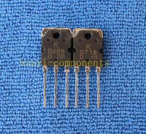 1pairs or 2pcs KTB688/KTD718 2SB688/2SD718 B688/D718 TO-3P