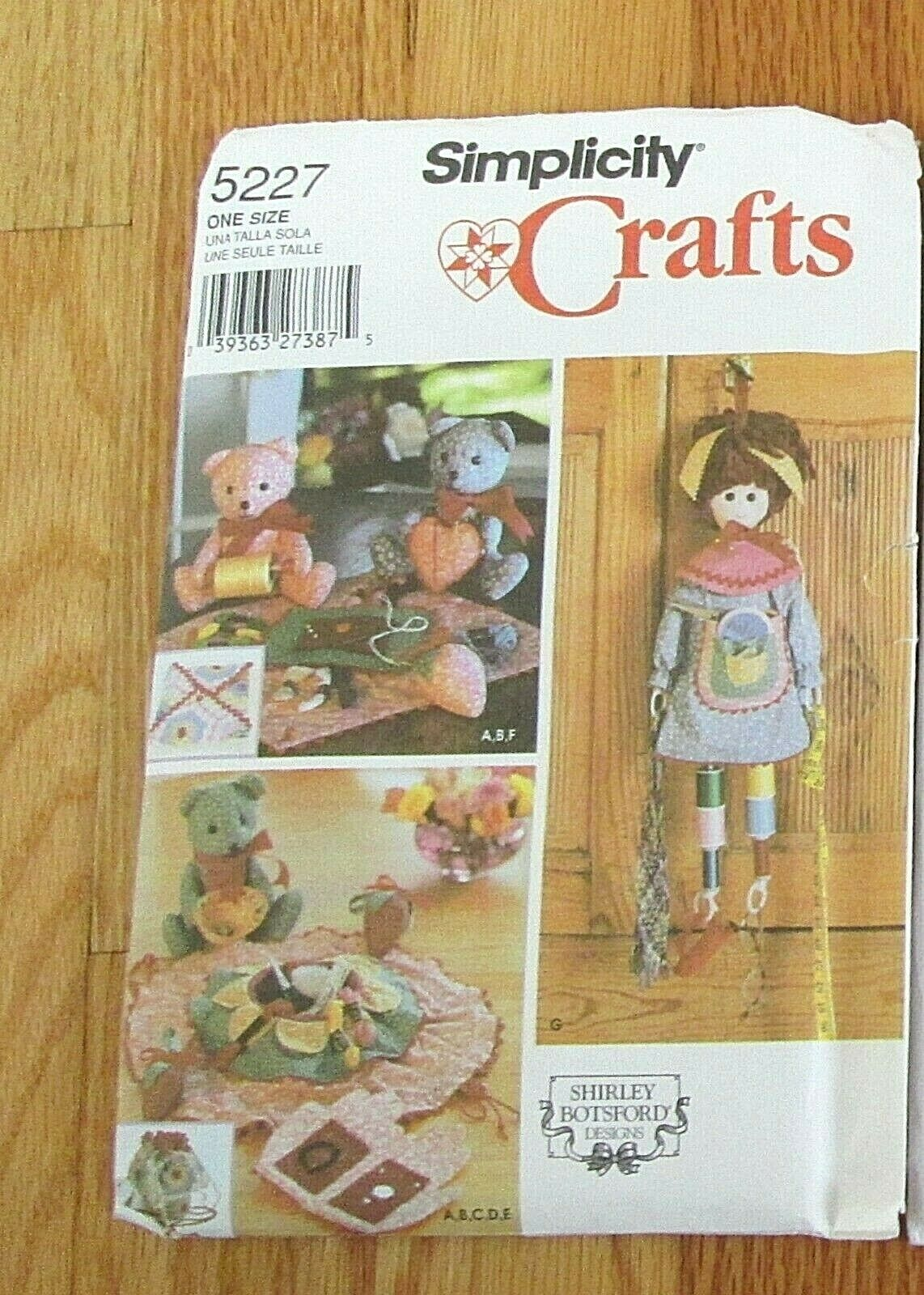 Simplicity 5227 Sewing Accessories//Doll//Bear Pattern