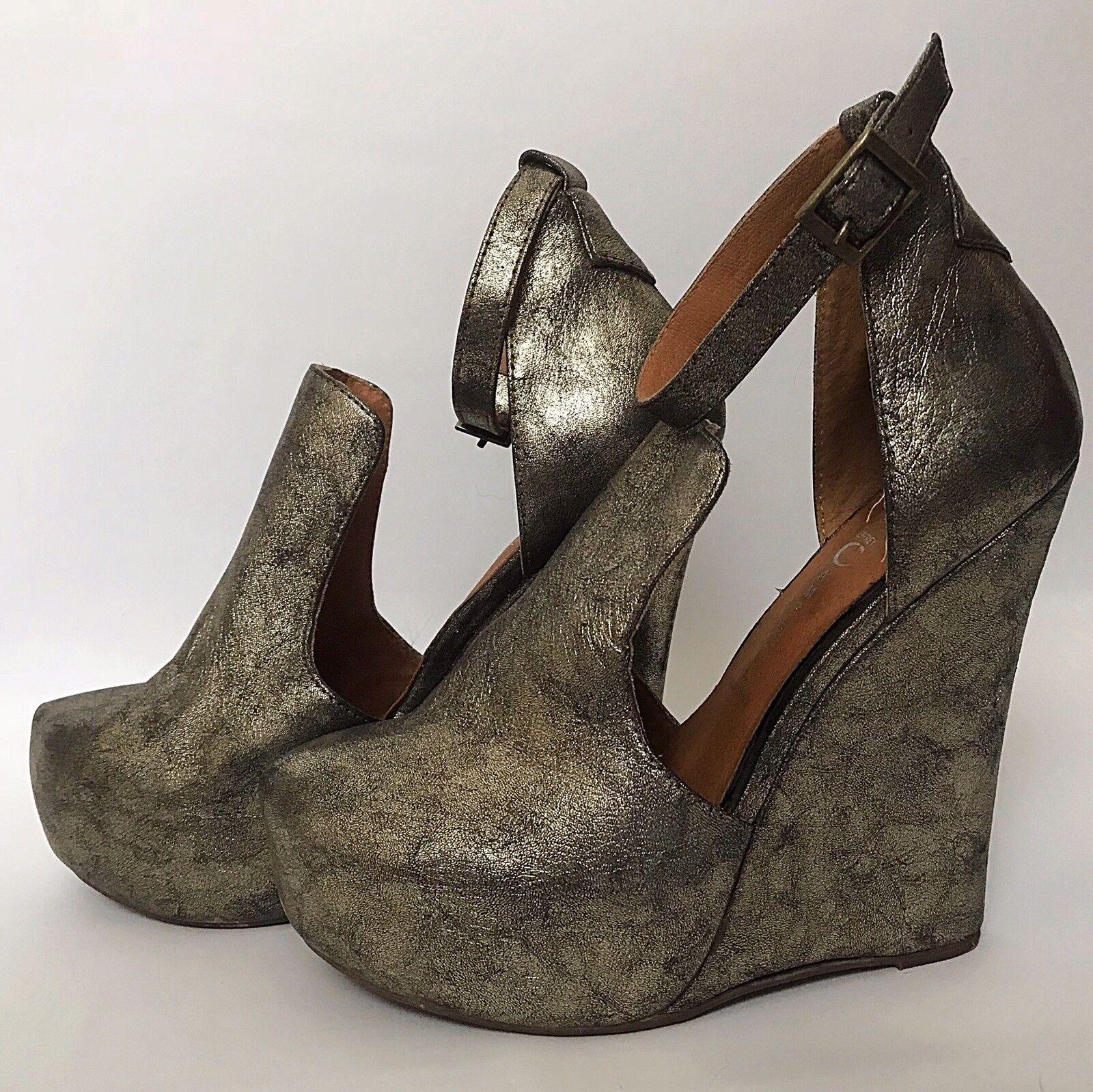 Jeffrey Campbell Thelma bronze compensées