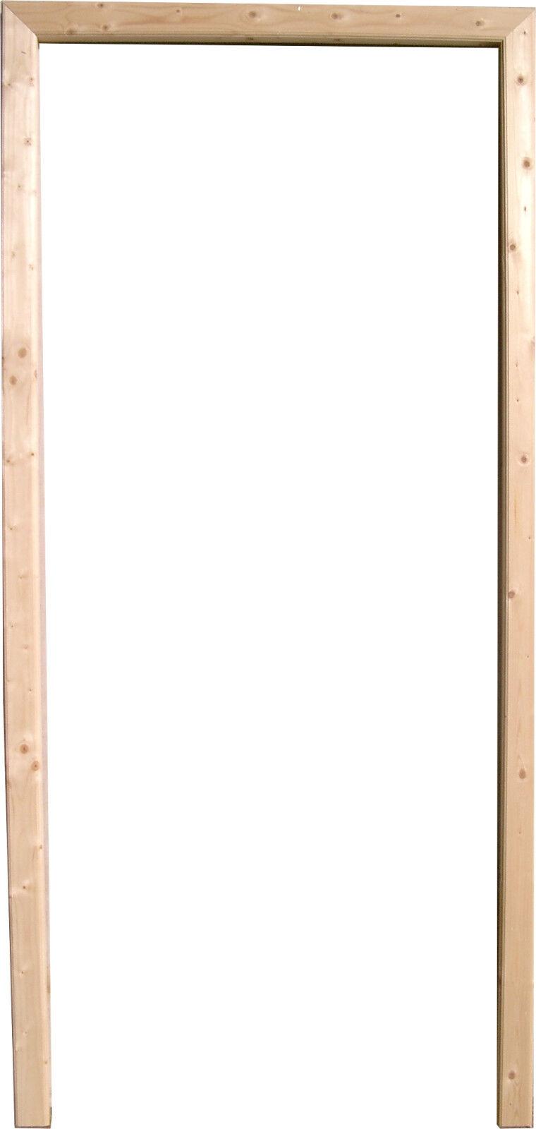 Türzarge Massivholz Fichte massiv roh Sonderpreis günstig 73,5x198,5x12cm Links