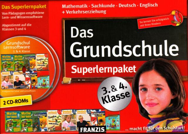 Das Grundschule Superlernpaket Klasse 3&4 Fit für den Schulwechsel PC Neu & OVP