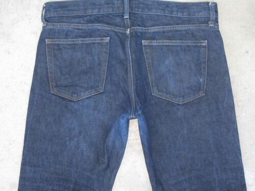 Bleu Uniqlo Denim Slim Coupe Selvedge Jeans Fonc Homme 6qO6xYA
