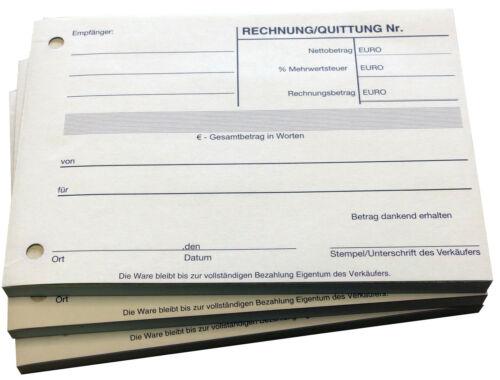 22403 3x Quittungsblock Quittung 2x40 Blatt Selbstdurchschreibend