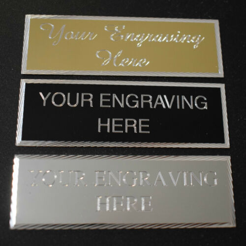 ENGRAVED 50 X 25MM TROPHY PLAQUE AWARD PLATE PICTURE SPORTS SELF ADHESIVE