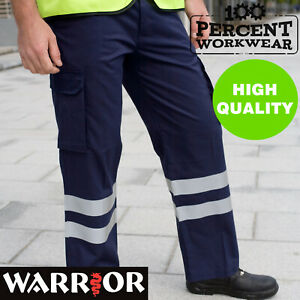 Drivers-Warehouse-High-Visibility-Cargo-Work-Safety-Trousers-Pants-Hi-Vis-Viz