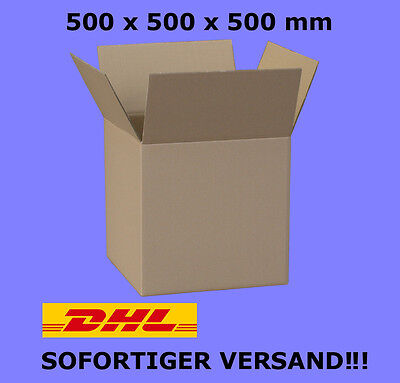 10ST KARTON 50 x 50 x 50 cm FALTKARTON 500x500x500 KARTONS VERSANDKARTONS #KR065