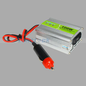 New-100W-Car-Power-Inverter-DC-12V-to-AC-220V-Adapter-with-Travel-Adaptor-Silver
