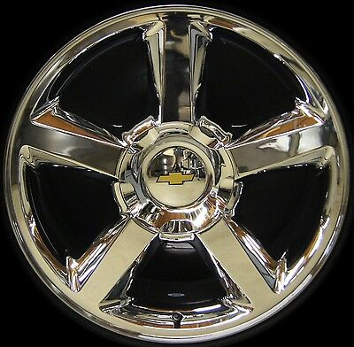"NEW Chevy Silverado Tahoe Suburban Avalanche LTZ 20"" Chrome Wheels Rims TPMS"