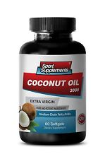 Organic Coconut Oil 3000mg - Combination Fatty Acids Kill Bacteria & Viruses 1B