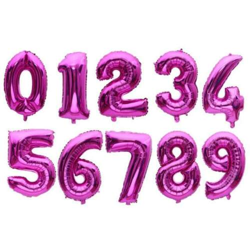 """Birthday Party 32"""" 40"""" Giant NUMBERS 0-9 FOIL BALLOONS Self Inflating//Helium"""