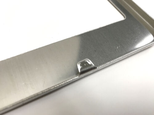 JaguarRev 1 STAINLESS STEEL CHROME Polished Metal License Plate Frame