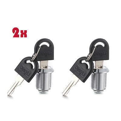 10XCam Lock Door Cabinet Locker Cupboard Desk Drawer Tool Box Key Thread L 30mm